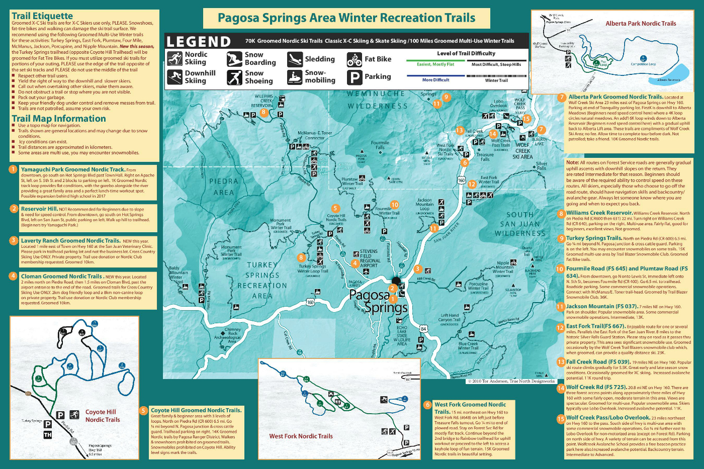Trail Map Brochure - Pagosa Springs Nordic Club